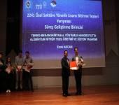 2241 Özel Sektöre Yönelik Lisans Bitirme Tezleri Yarışması Bölge Birinciliği