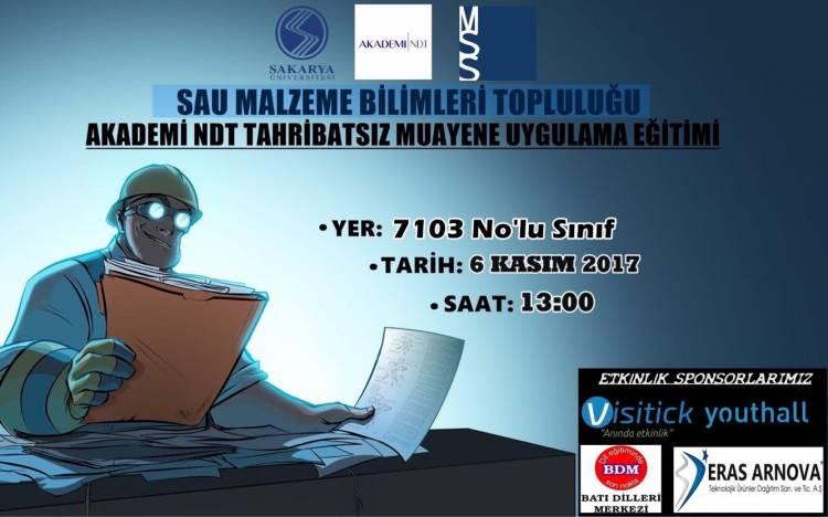 SAÜ MBT - Akademi NDT Tahribatsız Muayene Uygulama Eğitimi